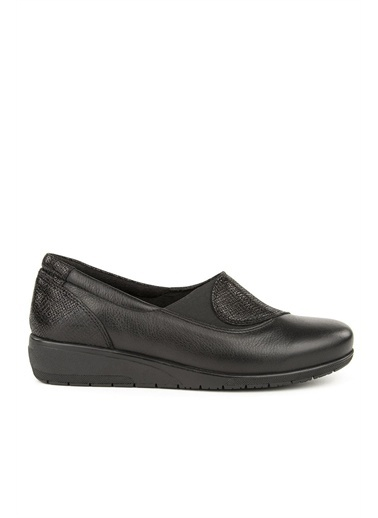 Muya Vetro Anatomik Hakiki Deri Kadın Ayakkabı Siyah
